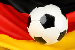 Germany in anticipation on football Stock Images