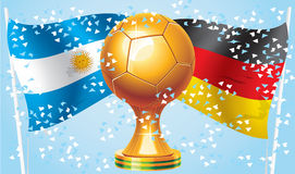 Germany Argentina. Finals of the World Cup 2014 stock illustration