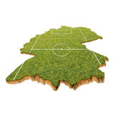 Germany as a playing field Stock Images