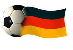 Germany ball flag. World cup illustration Royalty Free Stock Image