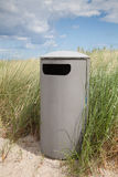 Germany, Baltic Sea, garbage bin in the dunes at beach Stock Photos
