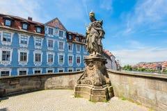 Germany Bamberg old bridge sculpture Kunigunde Royalty Free Stock Photo