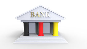 Germany Bank Illustration made in 3d Royalty Free Stock Image