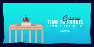 Germany banner. Time to Travel. Journey, trip and vacation. Vector flat illustration. Germany banner. Time to Travel. Journey, trip and vacation. Vector flat Royalty Free Stock Photo