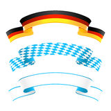 Germany and Bavaria banners Stock Photo