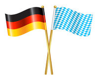 Germany and Bavaria flags icon Stock Photography