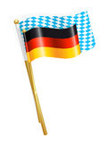 Germany and Bavaria flags Royalty Free Stock Image