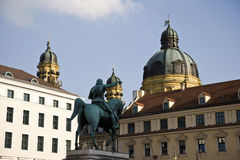 Germany, Bavaria, Munich, Equestrian Statue Royalty Free Stock Images