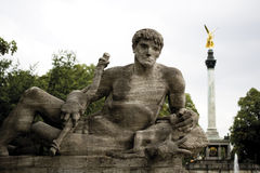 Germany, Bavaria, Munich, Statue on Prinzregentbridge Stock Images