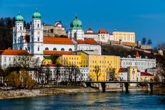 Germany, bavaria, passau. View of the city of passau in bavaria. here are attributed to the inn, the danube and the ilz together stock image