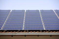 Germany, Bavaria, Schaeftlarn, Solar collectors Stock Photo