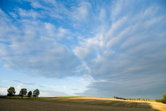 Germany,Bavaria,stormy sky over fields Stock Images
