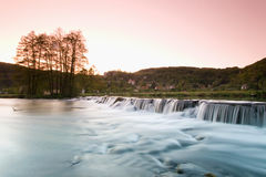 Germany,Bavaria,Wiesenttal small waterfall Stock Photos