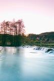 Germany,Bavaria,Wiesenttal, small waterfall Royalty Free Stock Photo