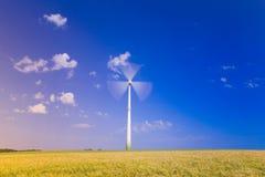 Germany, Bavaria, wind wheels Stock Image