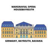 Germany, Bayreuth, Bavaria, Margravial Opera Housebayreuth line icon concept. Germany, Bayreuth, Bavaria, Margravial Stock Illustration
