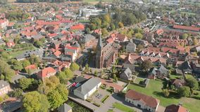 Germany is a beautiful city and Church. Aerial view. Germany is a beautiful city and Church Aerial view stock video