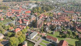 Germany is a beautiful city and Church. Aerial view. Germany is a beautiful city and Church Aerial view stock video footage