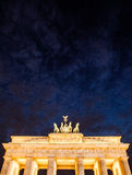 Germany, Berlin - Brandenburg Gate by night Stock Images