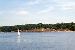 Germany, Berlin, Lido Wannsee. Famous Lido Wannsee in Berlin stock photography