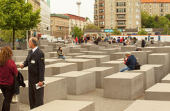 Germany-Berlin, May 2016. Memorial for the Murdered Jews of Euro Stock Photos