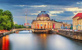 Germany, Berlin at twilight Stock Photos