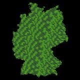 Germany binary map Royalty Free Stock Photography
