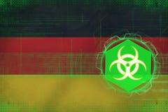 Germany biohazard threat. Biological hazard concept. Royalty Free Stock Image