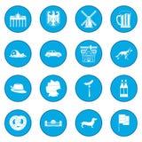 Germany black icon blue Stock Image
