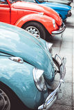 GERMANY, BOCHUM: MAY 07, 2016. Vintage retro red and blue old car. Royalty Free Stock Photography