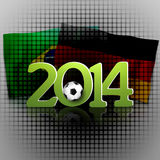 Germany Brazil 2014. Creative Symbol Background Design Royalty Free Stock Photo