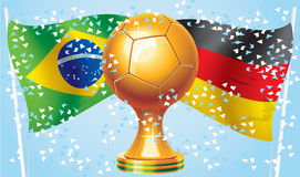 Germany Brazil. Football 2014 Germany vs Brazil. Who will win. Competitions Royalty Free Stock Photo