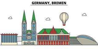 Germany, Bremen. City skyline architecture . Editable Stock Photos