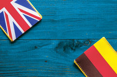 Germany and British flag Stock Photo