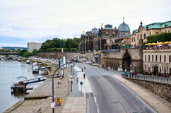 germany Bro på floden Eba i Dresden 16 Juni 2016 Arkivbild