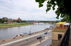 germany Bro på floden Eba i Dresden 16 Juni 2016 Arkivbilder