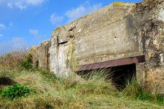 Germany bunker WW2 ,Utah beach. stock images