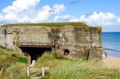 Germany bunker WW2 ,Utah beach. Royalty Free Stock Images