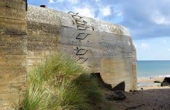 Germany bunker WW2 ,Utah beach. Stock Images