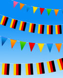 Germany Bunting flags Stock Photography