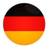 Germany button with flag Stock Images