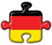 Germany button flag puzzle shape Stock Image