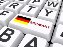 Germany button on keyboard Stock Photos