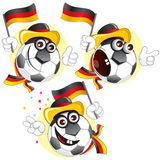 Germany cartoon ball royalty free stock images