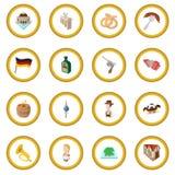 Germany cartoon icon circle Royalty Free Stock Image