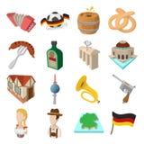 Germany cartoon icons Royalty Free Stock Photography