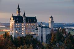 germany Castelo famoso de Neuschwanstein fotografia de stock royalty free