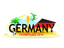 Germany Champions World Cup 2014 Royalty Free Stock Images