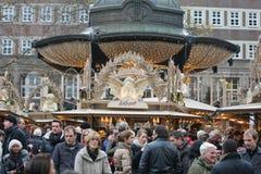 Germany - Christmas Market. DUSSELDORF, GERMANY - DECEMBER 8: Christmas Market in the center of Dusseldorf, Germany on December 8, 2013 Royalty Free Stock Photography