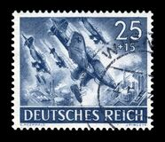 GERMANY - CIRCA 1943: German historical stamp: Dive bombers Junkers Ju 87, Stuka - one of the symbols of the blitzkrieg, the bombi
